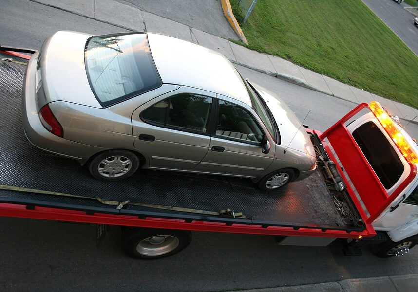 car in the towing truck