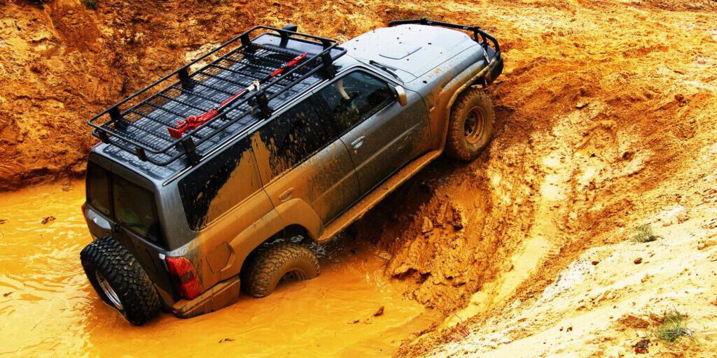 automobile in the mud